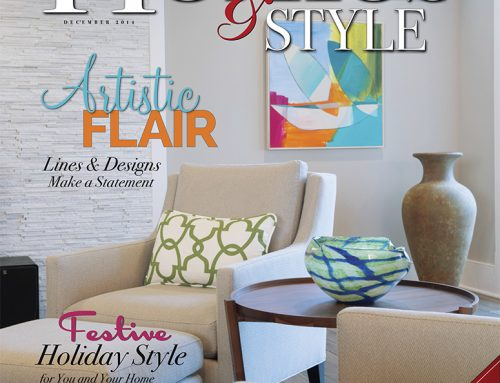 Julie Hansen Abstract Work Featured on Cover of Kansas City Homes & Style