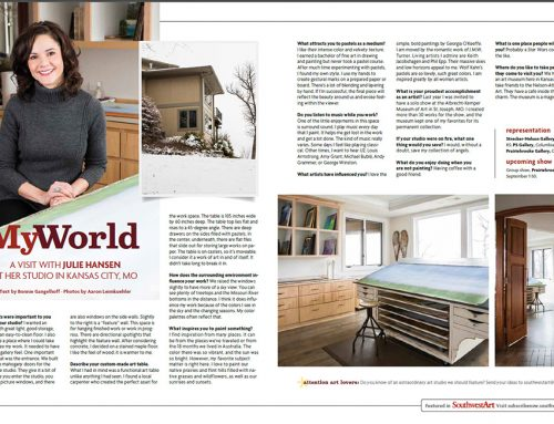 My World- A visit with Julie Hansen in her studio